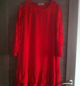 Платье красное новое очень красивое
