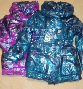 Куртки для девочек,новые.