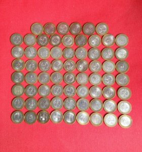69 биметаллических монет