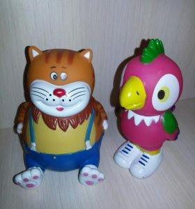 Игрушки Кот и попугай