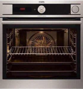 Встраиваемая духовка - пароконвектомат AEG