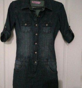 Платье джинсовое б/у