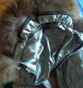 Пальто зимниее теплое