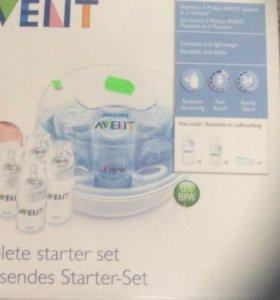 новый Стерилизатор для свч с 3 бутылочками