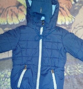 Зимняя куртка для девочки, шапка в подарок