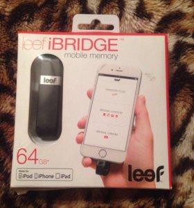 Флешка на айфон leef ibridge 64 гб.