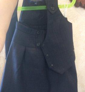 Школьная юбка и жилетка