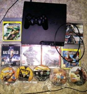 (320ГБ!!!)Sony Playstation 3slim CECH -3008B