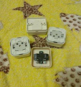 3 розетки и выключатель