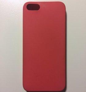 Красный силиконовый чехол для iPhone 5/5S/SE