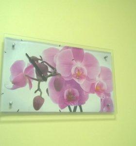 """Часы настенные """"орхидея"""""""