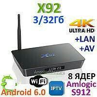Тв smart приставка андроид X92. Android TV Box X92