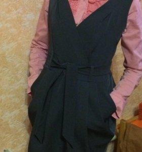 Сарафан школьный + блузка