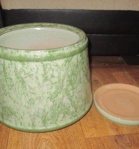 Горшок для цветов керамический Гжель