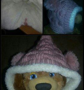 шапки зимние до 2лет