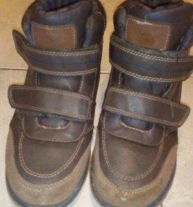 Ботинки р35 утеплённые