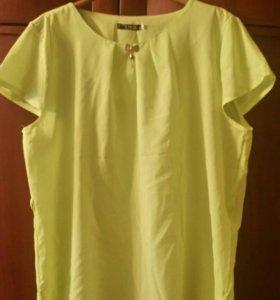 Блузка цвет лайм размер 50-52