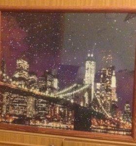 """Картина алмазная вышивка """"Бруклинский мост"""""""