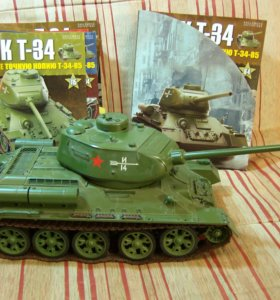 Танк Т-34 85 Eaglemmos 1:16. + 115 шт журналов.