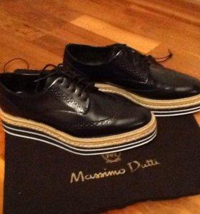 Лоферы-ботинки Massimo Dutti