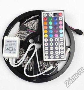 RGB светодиодная лента smd 5050.RGB контроллер+ДУ