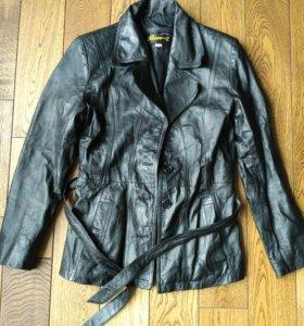 Куртка натуральная кожа чуть удлиненная