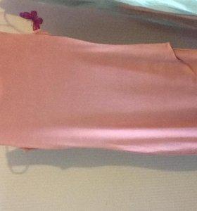 Коктейльное платье пастельно-розового цвета