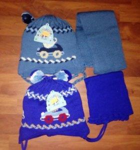 Шапки, шарф детские вещи