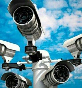 Монтаж видеонаблюдения, домофонов, сигнализации