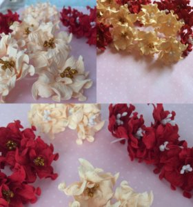 Цветы бумажные для скрапбукинга