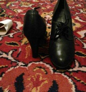 Осенняя кожаная обувь.