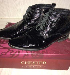 Зимние туфли мужские