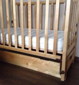 Кроватка детская с матрасом недорого