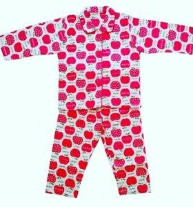 Пижама для девочки байковая