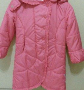 Новое осеннее пальто для девочки, р.122-128