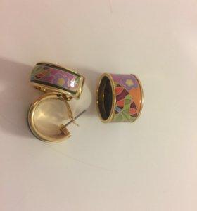 Серьги и кольцо freywillе