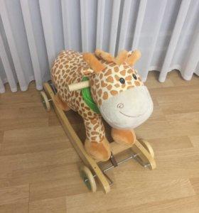 Новый жираф качалка каталка