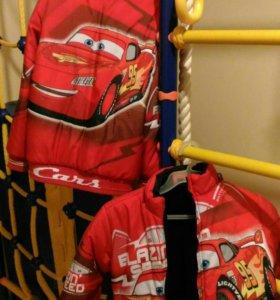Куртка осенняя с маквином размер 122 и 116