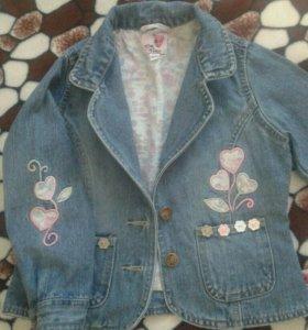 Пиджак джинсовый для девочки