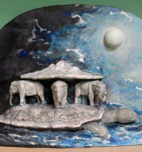 Статуэтка Слоны и черепаха