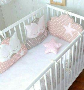 Бортики-подушки для новорожденного