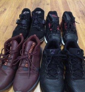 Мужские,ботинки,мокасины.Кожа натуральная .