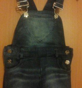 Комбинизон джинсовый.Шортики для девочки