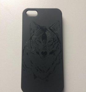 Deppa для iPhone 5/5S/SE Black-Волк