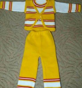 Вязаный костюм 2-2,5 года