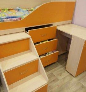 Детская кровать-чердак 160Х70