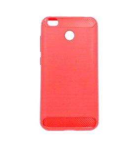 Xiaomi Redmi 4x чехол стилькарбон красно-розовый