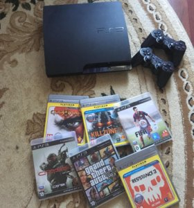 PS3 + игры + два джойстика СРОЧНО!