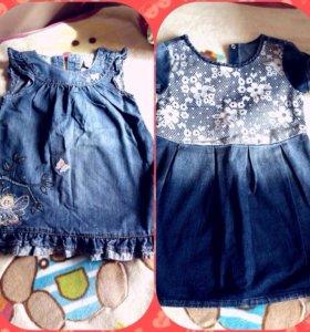 Детская джинсовая платье