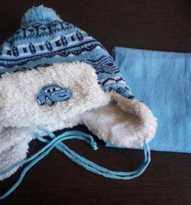 Шапочка и шарфик на мальчика
